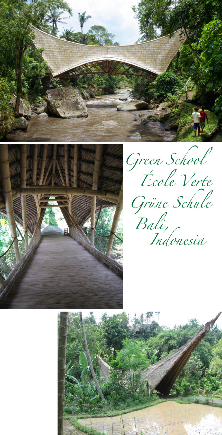 Bali indonesia covered bridge