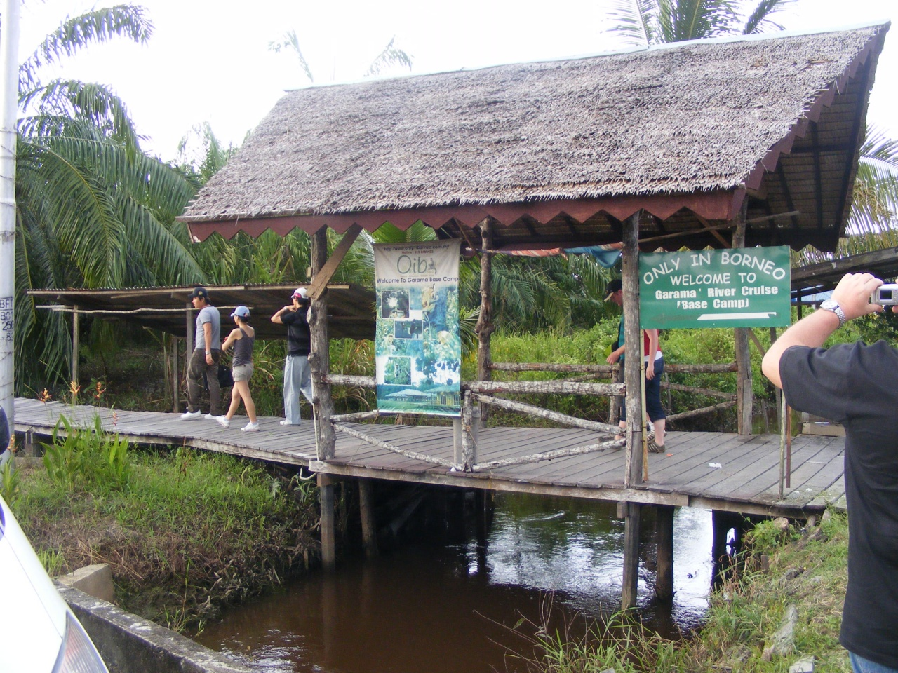 covered bridge in Beaufort Sabah, Malaysia
